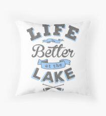 Das Leben ist besser am See im Freien Cabin Boating Fishing Dekokissen