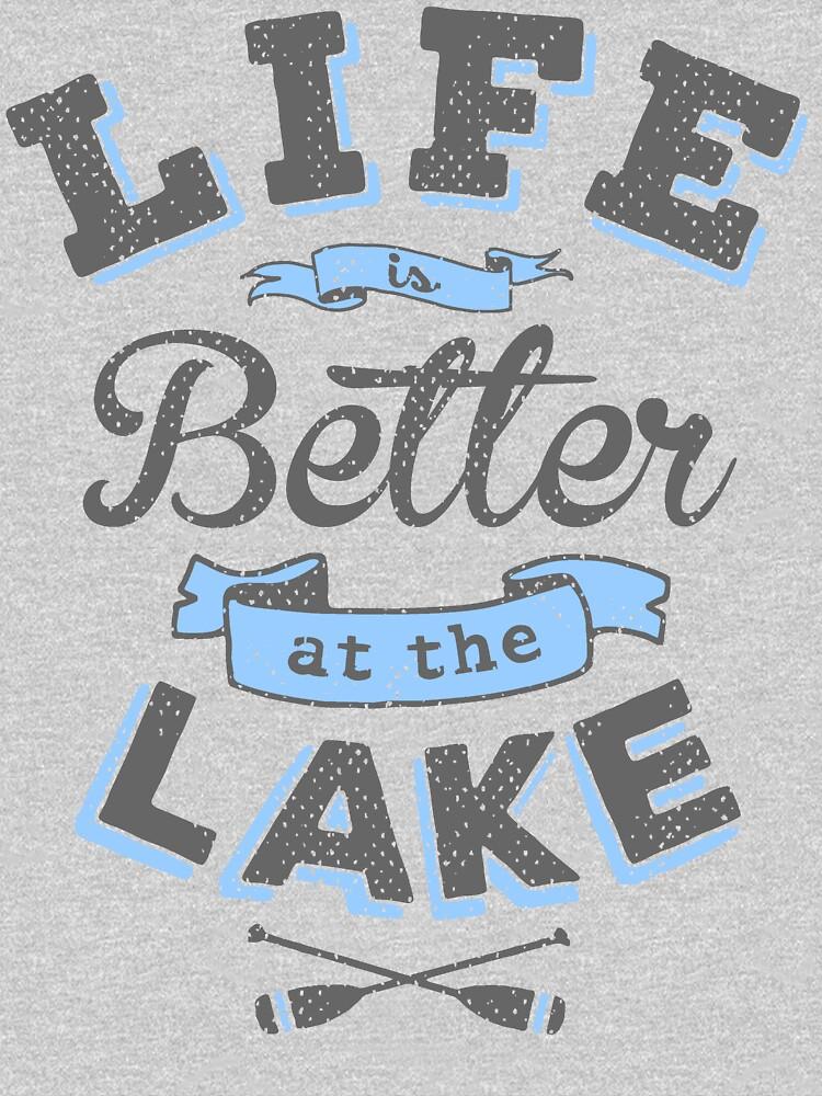 Das Leben ist besser am See im Freien Cabin Boating Fishing von PicksPlace