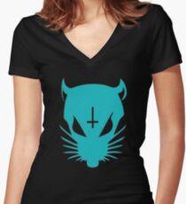 ZefRatBlue Women's Fitted V-Neck T-Shirt