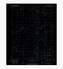 USGS TOPO Map Colorado CO Mount Sunflower NE 362939 1969 24000 Inverted Photographic Print