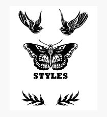 Harry Styles' Tattoos Photographic Print