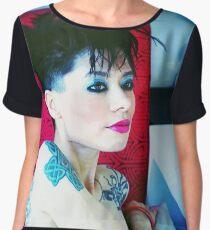 Shaina Mode Model Shirt Chiffon Top