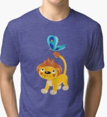 Leo and Butterfly Tri-blend T-Shirt