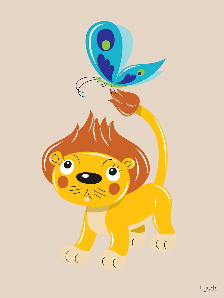 Leo and Butterfly by Lyuda