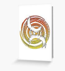 Polynesian Birds SUNSET Greeting Card