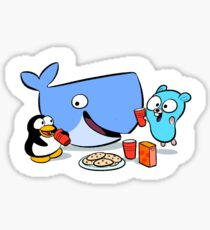 Docker friends gang Sticker