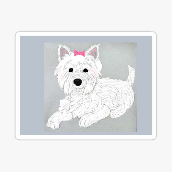 Westies in Pink Sticker