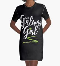 I'm a Galway Girl, white and green Graphic T-Shirt Dress