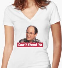Can't Stand Ya Women's Fitted V-Neck T-Shirt