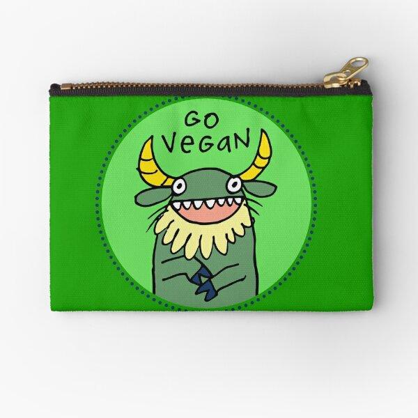 Go Vegan Zipper Pouch