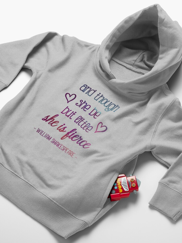 Alternate view of She is Fierce Toddler Pullover Hoodie