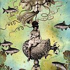 Undersea Steampunk: Aurelia & her Jelly Cruiser by WinonaCookie