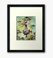 Undersea Steampunk: Aurelia & her Jelly Cruiser Framed Print