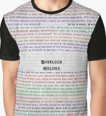 Sherlock Holmes quotes white board Graphic T-Shirt