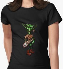Goblin with Gnome Hair Parter Womens Fitted T-Shirt