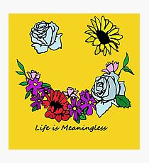 Life is Meaningless Photographic Print