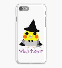 オカメインコCockatiel parrot as witch for Halloween iPhone Case/Skin