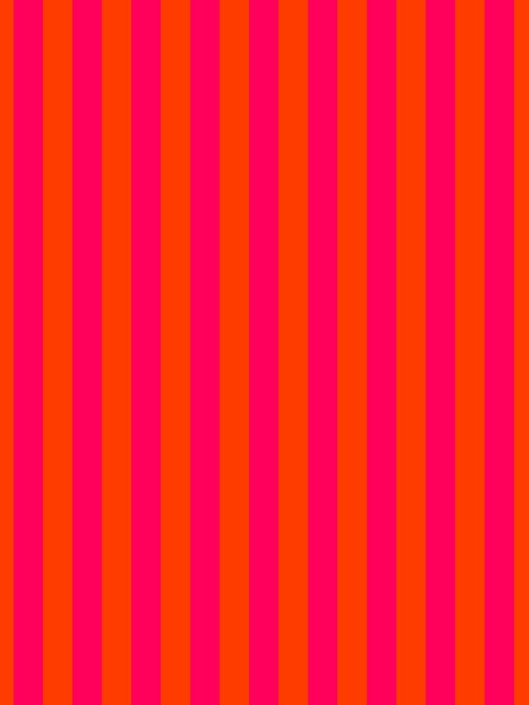 Orange Pop and Hot Neon Pink Vertical Stripes by podartist