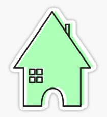 Green House Sticker