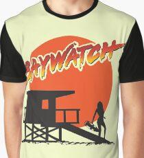 Baywatch Post Guard logo Graphic T-Shirt