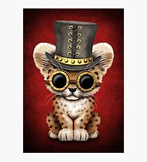 Steampunk Baby Leopard Cub  Photographic Print