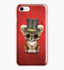 Steampunk Baby Leopard Cub  iPhone Case/Skin