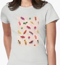 Sweet Candy Painted Pattern Womens Fitted T-Shirt