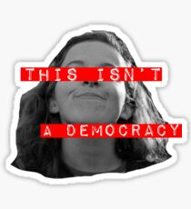 THIS ISN'T A DEMOCRACY- Leslie Malick Sticker