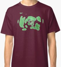 Purple spotted flower on green Classic T-Shirt