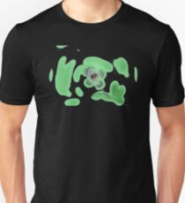 Purple spotted flower on green Unisex T-Shirt