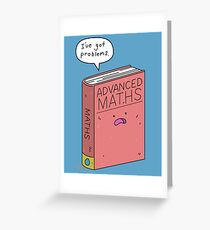 Maths Problems Greeting Card