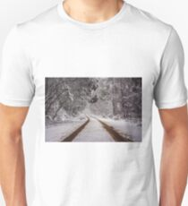 Follow your tracks back home Unisex T-Shirt