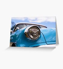 Sky blue, sunshine and chrome Greeting Card