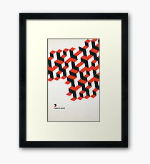 Modernist Negative Space Framed Print