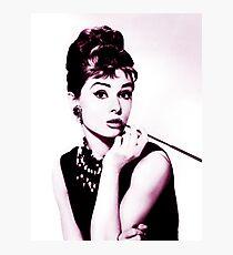 Audrey Hepburn vintage color Photographic Print