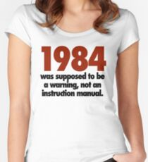 1984 not an instruction manual Women's Fitted Scoop T-Shirt