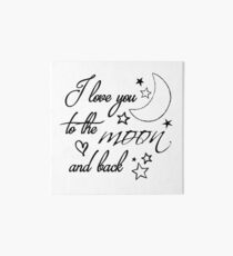 Love You to the Moon Art Board