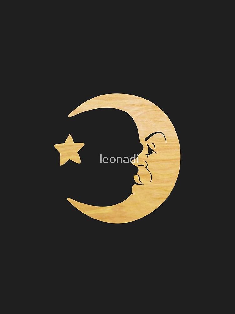Ouija Board Moon Wood Graphic T Shirt By Leonadi Redbubble