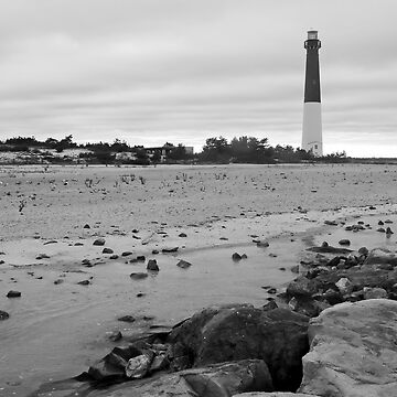 Barnagat Lighthouse B&W by andykazie