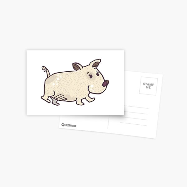 Wombat Dog Postcard