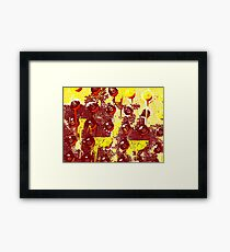 Yellow circles Framed Print