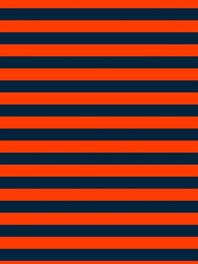 Orange Pop and Navy Blue Tent Stripe by podartist