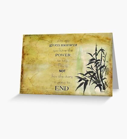At any given moment... Greeting Card