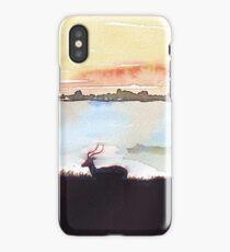Impala in an African landscape iPhone Case/Skin