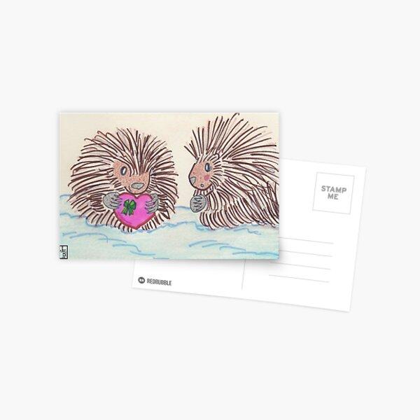 Porcupine love Postcard