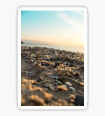 Sand and Sunset at Vans Beach in Leland, Michigan Sticker