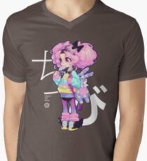 Chibi T-Shirt mit V-Ausschnitt