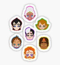 The Gang is All Here Sticker