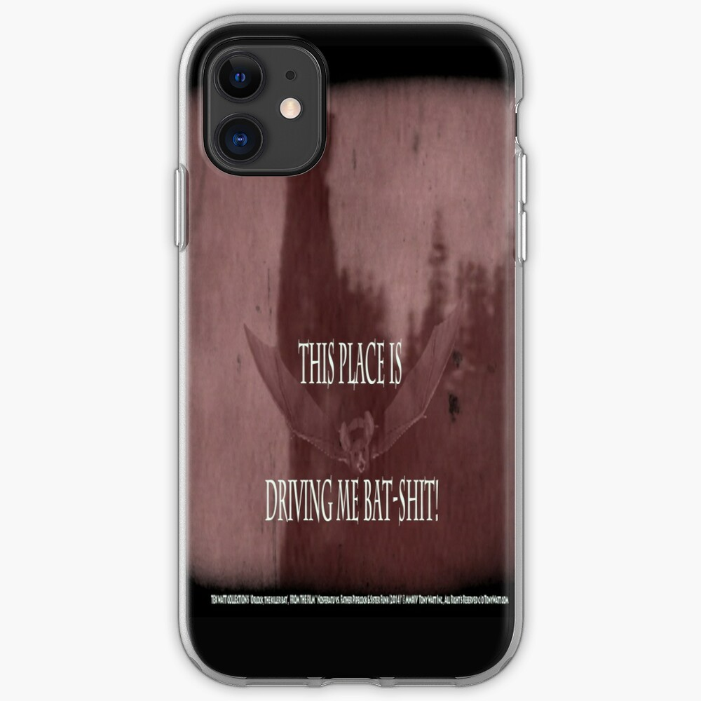 "'Orlock, the Vampire #2' (as killer vampire bat),  FROM THE FILM "" Nosferatu vs. Father Pipecock & Sister Funk (2014) iPhone Case & Cover"