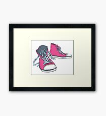 Pink Hi-top Sneakers Framed Print